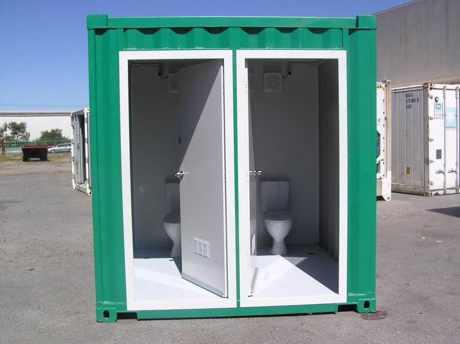 Shipping container conversions storage cooling living - Shipping container public bathroom ...