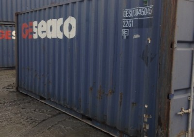 8 Second hand Geseaco shipping container which are lockable at special sales prices.