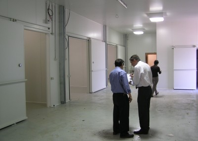 A large storage facility built as a complex of multiple cool rooms Adelaide Sth Australia