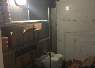 A dual zone cool room built by  Independent Container Refrigeration Services SA