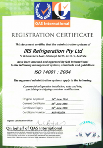 IRS - ISO 14001-2004 Accreditation