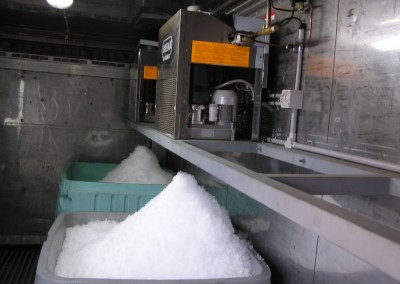 Install flake ice machine