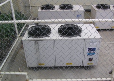Plant for coolrooms built into a caged secure area
