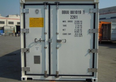 Wide refrigerated container door