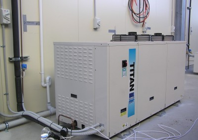 large refrigeration plant for running multiple coolrooms in South Australia
