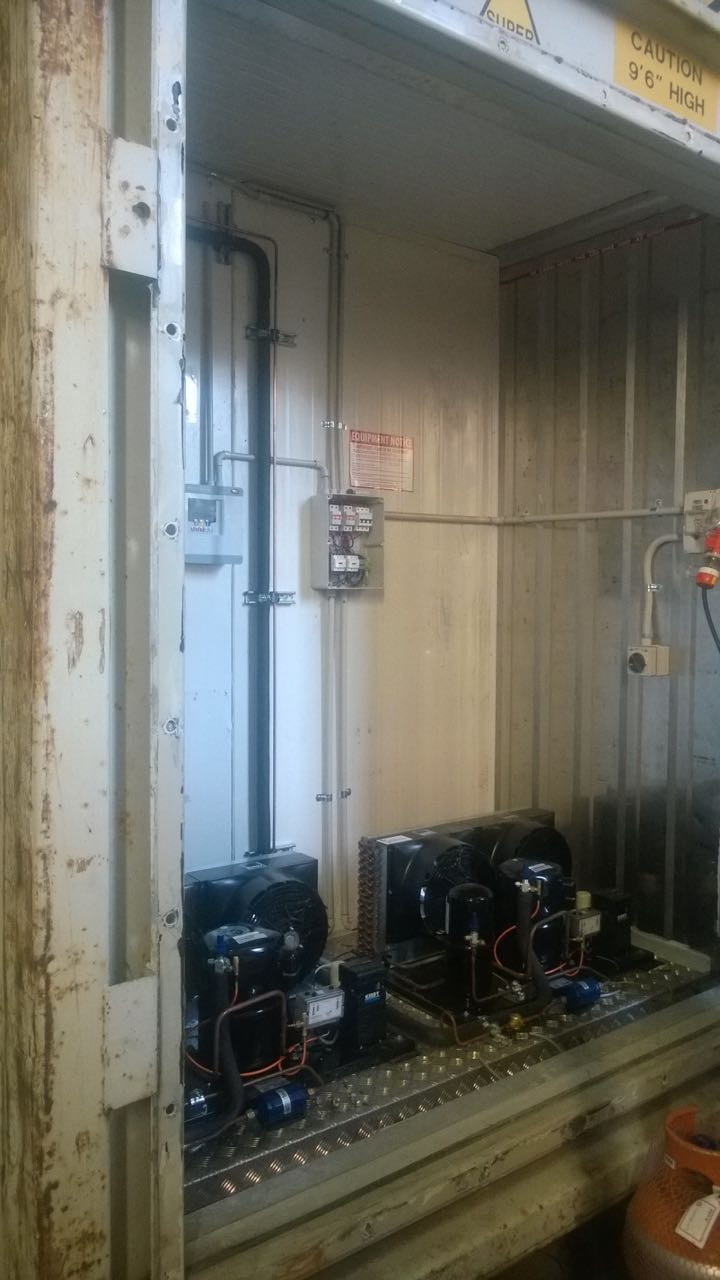 Refrigerated Shipping Containers Modified To Suit Irs