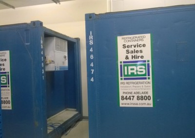 IRS provides installation, service, repair and maintenance of cool rooms and refrigerated containers