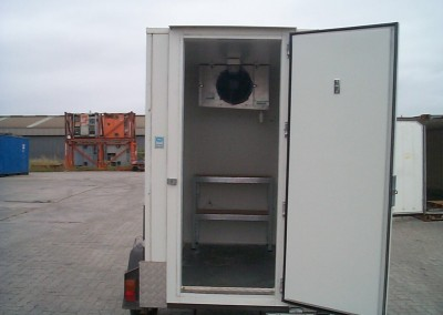 Coolroom for hire with the typical shelving configuration