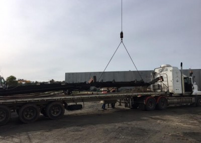 Multiple semi trailers were required to transport IRSSA large stock holding of shipping containers to their new premises at Wingfield