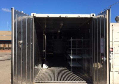 Inside view of our new 40' reefer installed at South Austrailian Fisheries Research,North Arm Store in Port Adelaide
