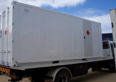 20' Chemical storage container