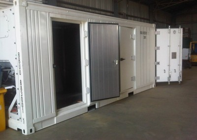 20' NEW dual zone refrigerated container