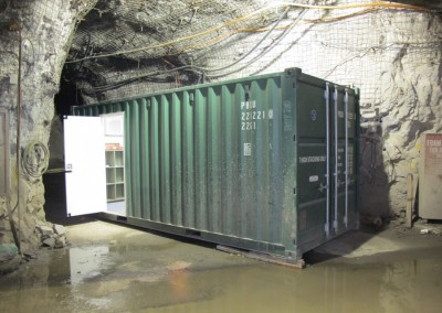 20' Office container at underground mine site