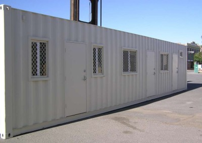 40' Accommodation site hut container