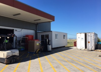 A refrigerated shipping container installed at Adelaide airport