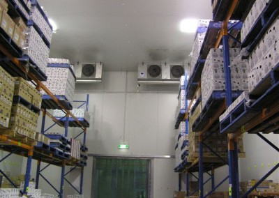 Coolroom built with sufficient height to allow forklift access and the ability to multi stack pallets