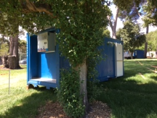 IRS Refrigeration hiring refrigerated shipping containers into the Adelaide parklands