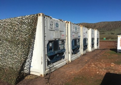 5 refrigerated shipping containers hired in south australia