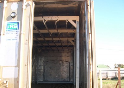IRS modified a shipping container to hang beef carcasses in N.S.W.