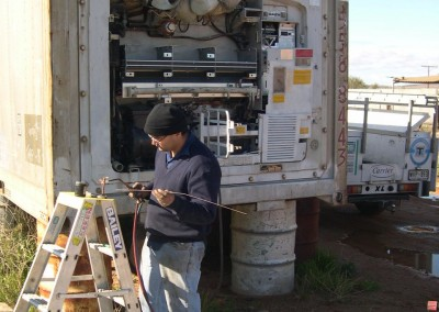 IRS repair refrigerated shipping containers in country South Australia
