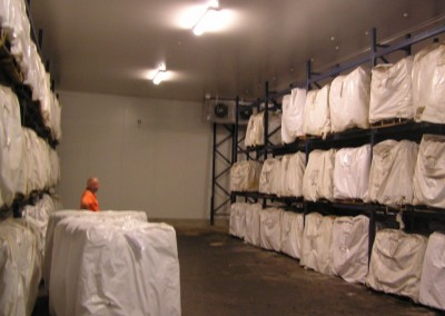 Installation of large coolroom for storing animal skins as part of processing factory