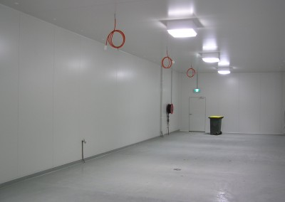 Storage space constructed ready for the installation of multiple prefabricated coolrooms Adelaide outer metro area