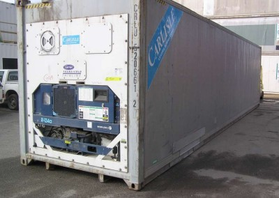 USED REEFERS 40' containers, refrigerated carrier