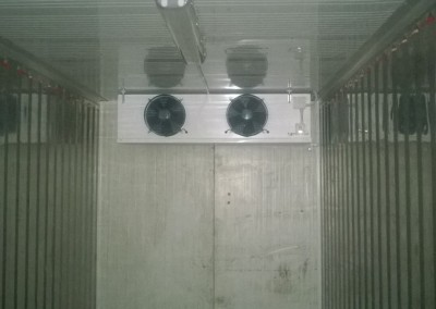 Refrigerated container - view from the inside
