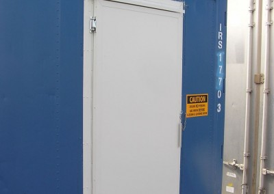 Typical coolroom conversion from shipping container with rear door