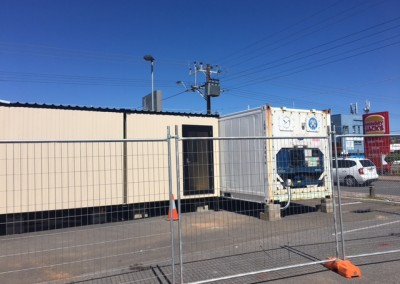Refrigerated shipping containers installed and made secure in Brighton