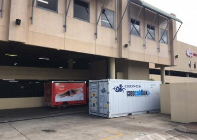 IRS Refrigerated reefer hired by the cinemas in the Marion Shopping centre