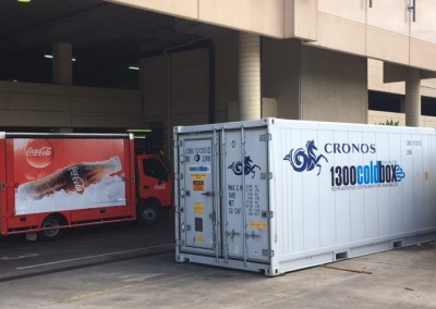 IRS installed a refrigerated shipping container at the cinemas in Westfield Marion which had to be made secure as it was installed outside the building