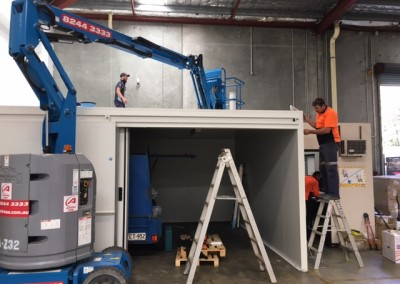 Refrigeration plant being installed for a commercial cool room at Adelaide airport