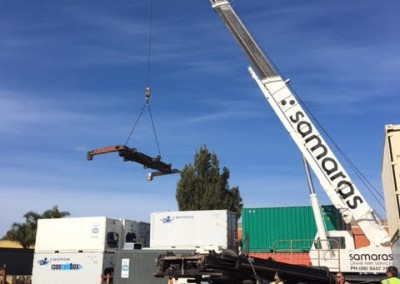 A specific tool was required to be used by the cranes to shift all of IRSSA shipping containers