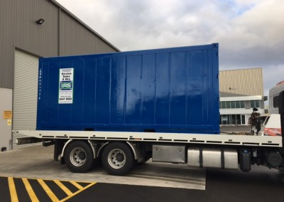 IRS refrigerated container transported for on-site use in CBD