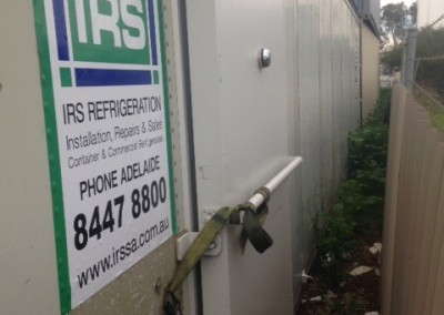 Refrigerated container - view from the outside