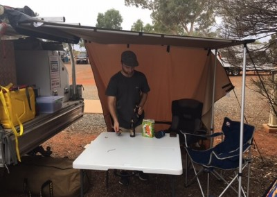 When we are not on the road doing maintenance work on your cool rooms, we are camping - at Ayers Rock in South Australia