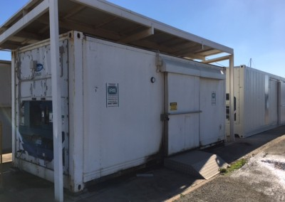 Installing new 40' reefer at South Austrailian Fisheries Research,North Arm Store in Port Adelaide_n