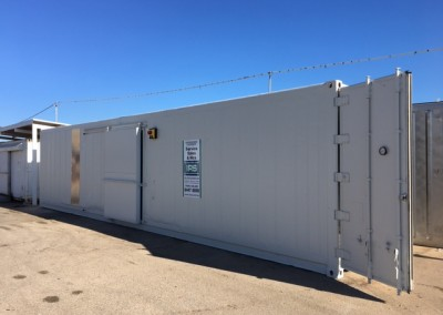 Installing new 40' reefer at South Austrailian Fisheries Research,North Arm Store in Port Adelaide_nn