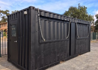Modified shipping container for the Beer & BBQ festival at Adelaide Showgrounds, Wayville