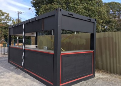We modified a shipping container into a customised food stall for the Beer & BBQ festival being held at Adelaide Showgrounds, Wayville